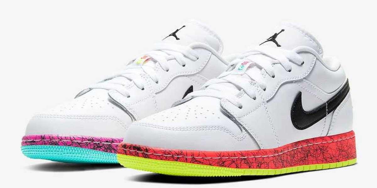 CV9548-100 Air Jordan 1 Low GS Cotton Candy